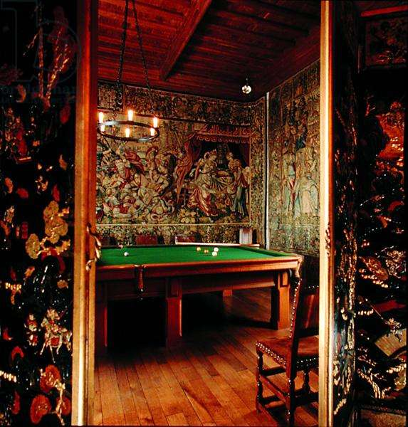 The Billiard Room, executed by Burroughs and Watts, Castle Drogo, Devon (photo)