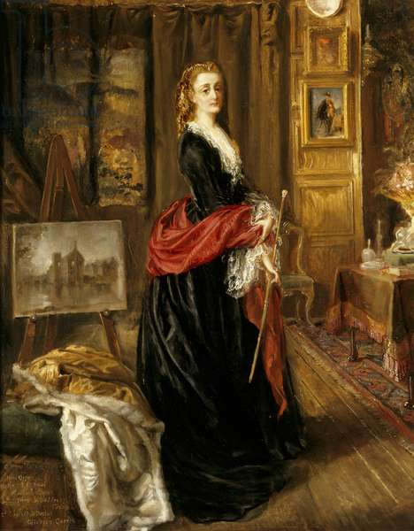 Self-portrait in her Painting Room at Baddesley Clinton, 1885 (oil on canvas)