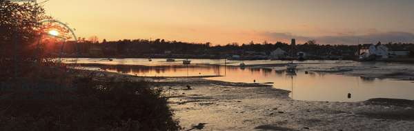 The Deben river during low-tide at Sutton Hoo, Suffolk (photo)
