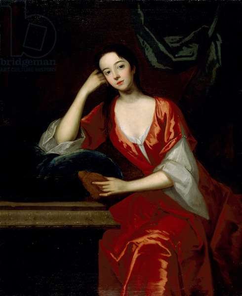 Portrait of Mrs. Gilbert Eccles, after the style of Michael Dahl (oil on canvas)