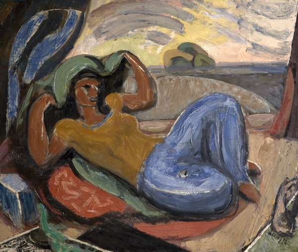 Mexican Idyll, 1930 (oil on canvas)