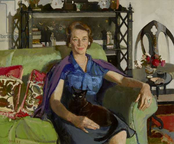 Elizabeth (Betty) Smiley, Mrs Christopher Hussey in Middle Age, 1965 (oil on canvas)