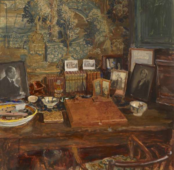 Vita Sackville-West's Writing-room in the Elizabethan Tower at Sissinghurst Castle, 1990 (oil on board)