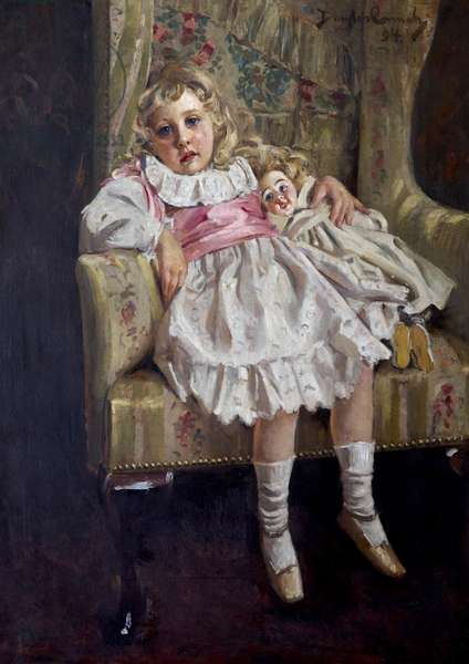 'Lost in Reverie' (Agatha Mary Clarissa Miller, later Agatha Christie, aged 4), 1894 (oil on canvas)