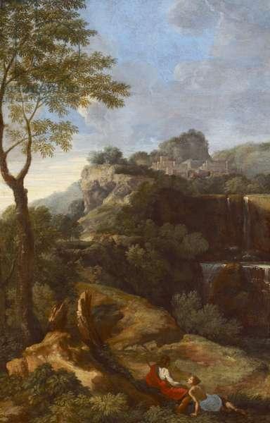 A Mountainous Italianate Landscape with Figures (Tivoli?)