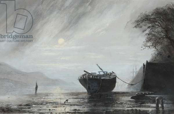 The Schooner 'Mary Jones' of Aberdovey (oil on canvas)