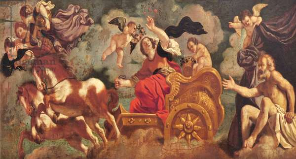 Aurora quitting Tithonus in her Chariot (after Guercino)