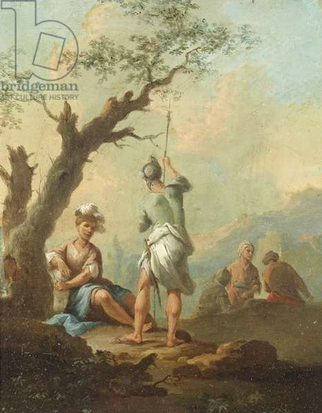 Roman Soldiers resting by a Tree