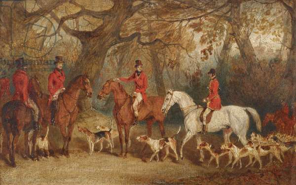 The Royal Hunt with the Master of the Royal Buckhounds, Charles F. Davis (c.1788-1866), the artist's brother