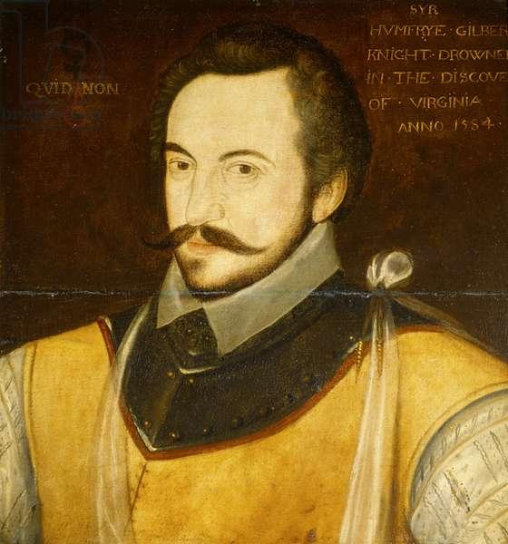 Portrait of Sir Humphrey Gilbert (oil on board)