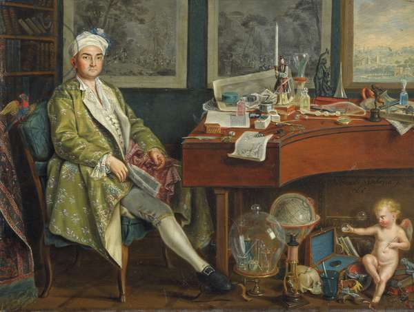 A Collector in his Study