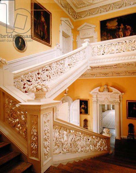 The Great Staircase, made by Edward Pierce (c.1630-98), 1676-77 (photo)
