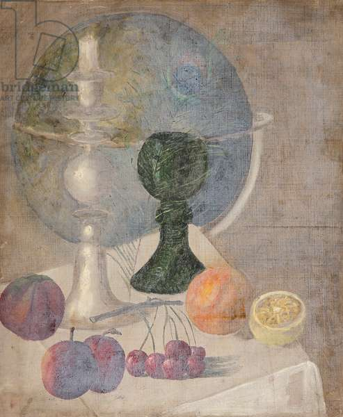 Still Life with Globe (oil on canvas)