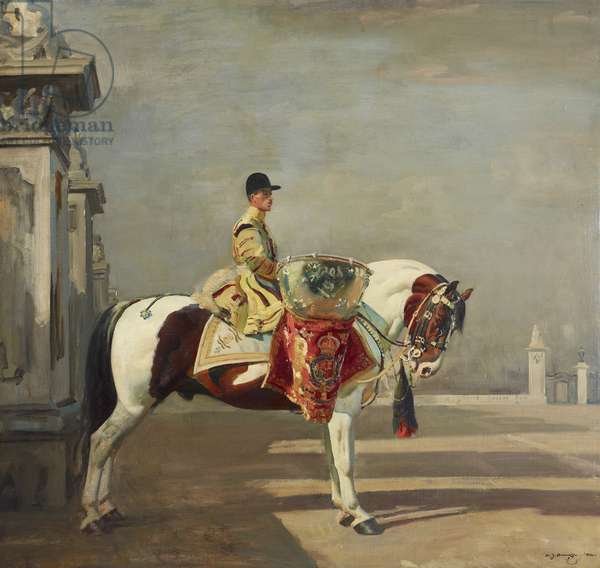 The Drummer of His Majesty's First Life Guards, 1922 (oil on canvas)