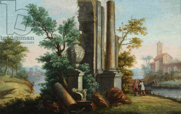 Classical Ruins on a Landscape
