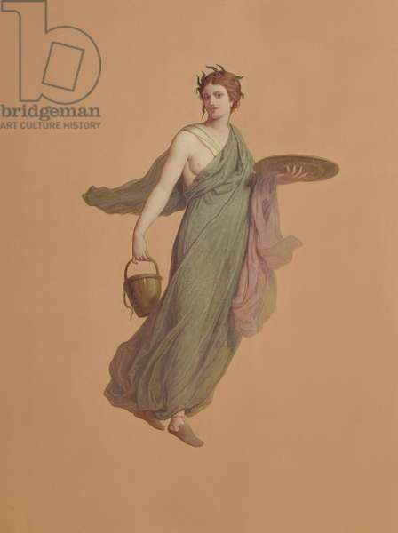 Nymph with Bucket, from the Pompeiian Room, executed under the direction of John Diblee Crace (1838-1919), 1870s (oil on canvas)