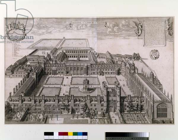 Trinity College, Cambridge, 1690 (engraving)