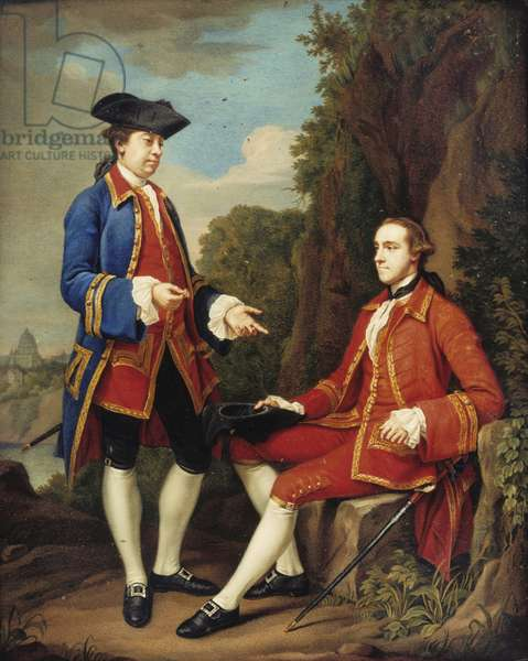 George Harry Grey, Lord Grey of Groby, later 5th Earl of Stamford (1737-1819) and his Travelling Companion, Sir Henry Mainwaring, 4th Bt (1726-1797)
