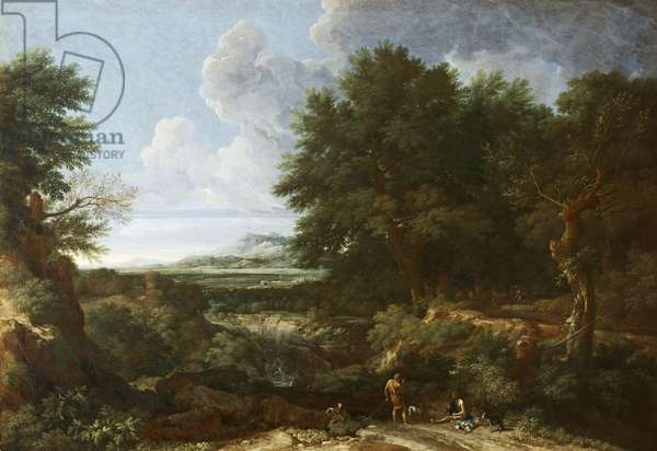 A Classical Landscape with Sportsmen