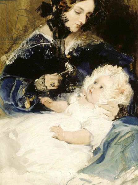 The Duchess of Abercorn and her Daughter (oil on canvas)
