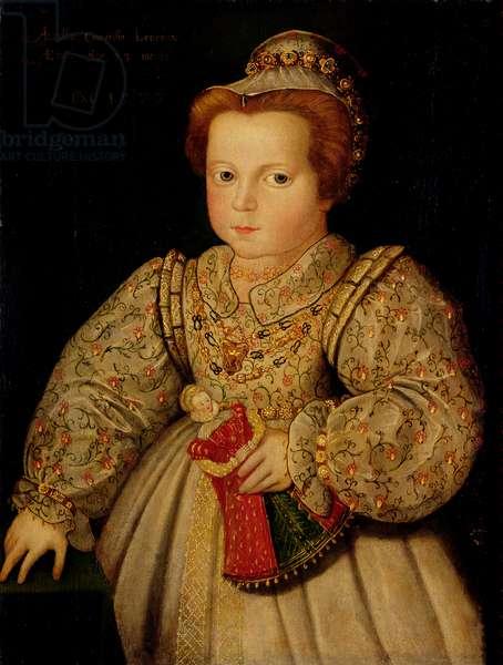 Lady Arabella Stuart (1575-1615) aged 23 months, 1577 (oil on panel)