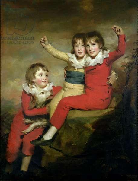 The Macdonald Children: Ranald (1788-1873), Robert (d.1863) and Donald (d.1837) (oil on canvas)