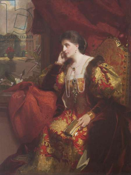 Lady Adelaide Chetwynd-Talbot, Countess Brownlow (oil on canvas)