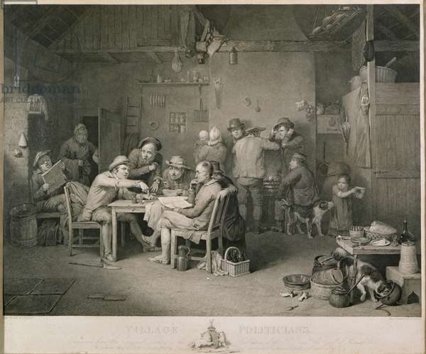 Village Politicians, engraved by Abraham Raimbach, 1806 (engraving)