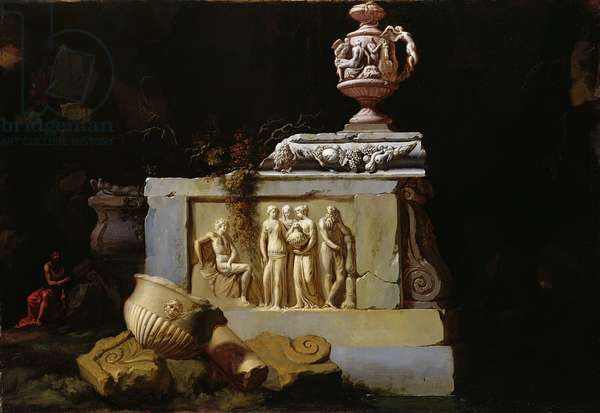 Classical ruins (oil on canvas)