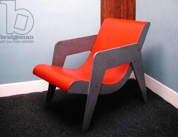 A chair (painted wood)