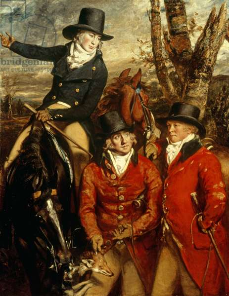 Sir William Heathcote, Rev. William Heathcote and Major Gilbert out Hunting (oil on canvas)