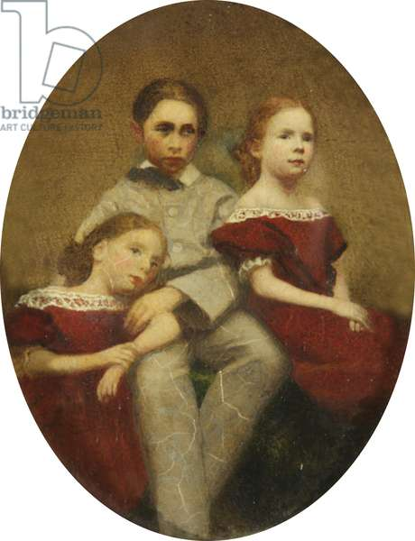 Alice Mary Darby, later Mrs Francis Alexander Wolryche-Whitmore (1852-1931), her Brother Alfred Darby and her Sister Lucy Darby as Children