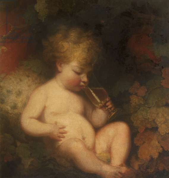 Henry George Herbert, later 2nd Earl of Carnarvon (1772-1833) as the Infant Bacchus