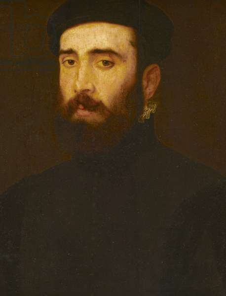 An Unknown Bearded Man in a Black Cap, late 16th century (oil on panel)