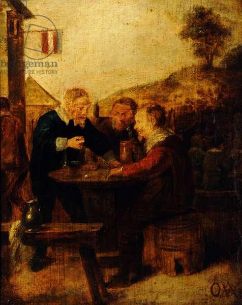 Outside a Tavern
