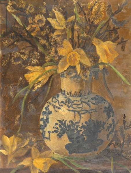 Flowers in Vase, c.1890 (oil on canvas)