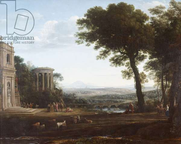 The Father of Psyche sacrificing at the Temple of Apollo