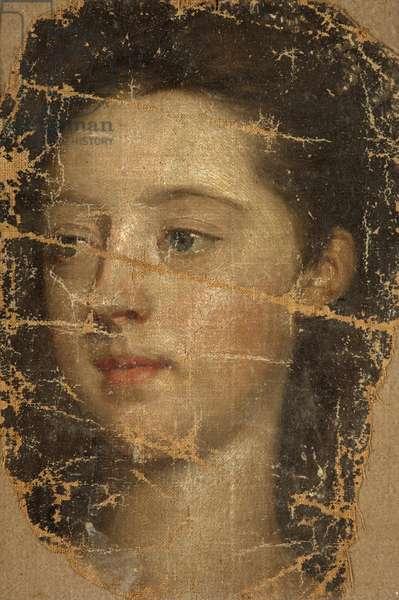 A Girl's Head (fragment)