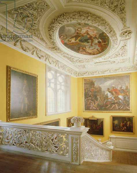 View from the top landing of the Great Staircase, made by Edward Pierce (c.1630-98) (photo)