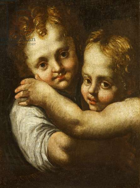 Two Children Embracing