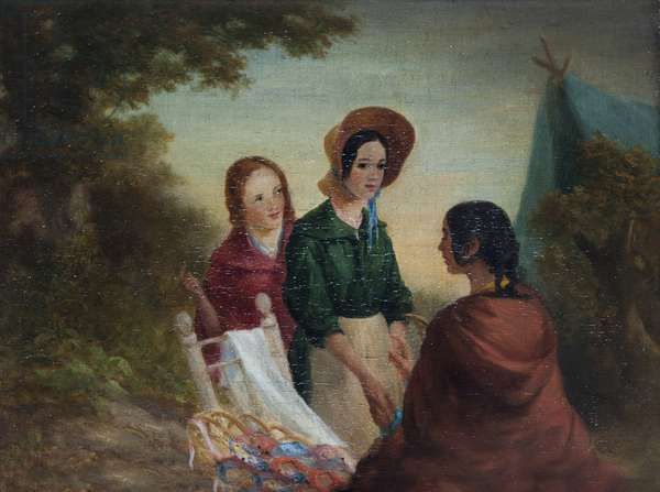 Two Girls consulting a Gipsy Fortune-teller
