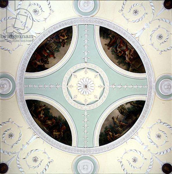 Detail of ceiling painting