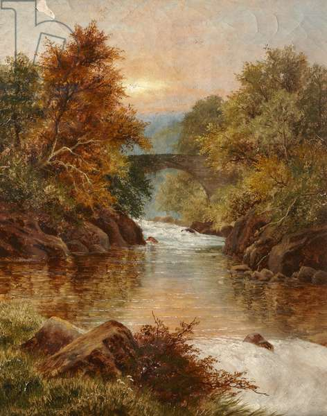 River landscape (oil on canvas)