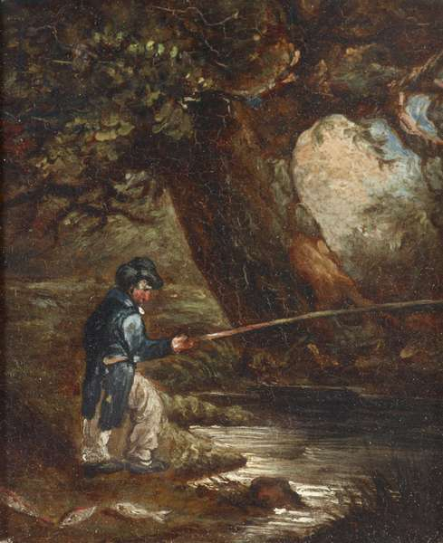 A Fisherman by a Tree