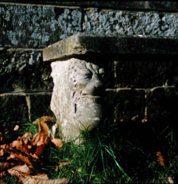 Detail of the stone seat in the Pleasure Garden (stone)
