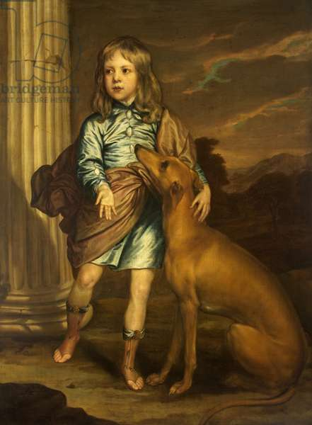 A Noble Child with a Greyhound
