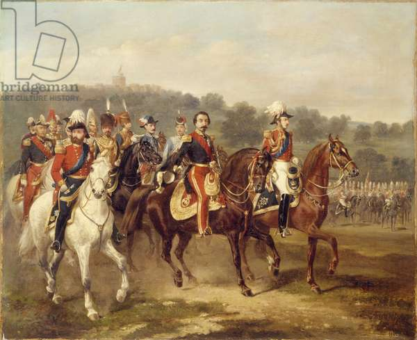 Prince Consort with Louis Napoleon, 1855 (oil on canvas)