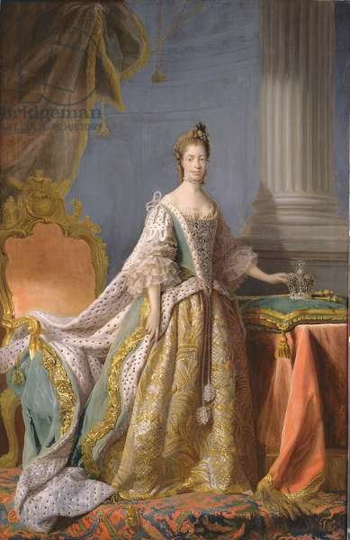 Queen Charlotte, 1766 (oil on canvas)