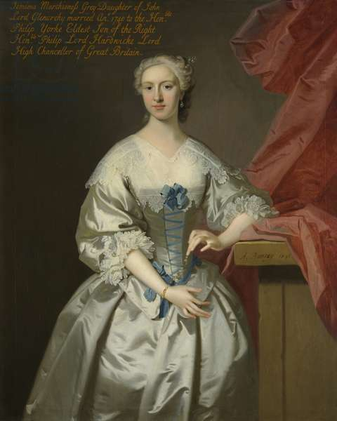 Lady Jemima Campbell, Marchioness Grey, Countess of Hardwicke, 1741 (oil on canvas)