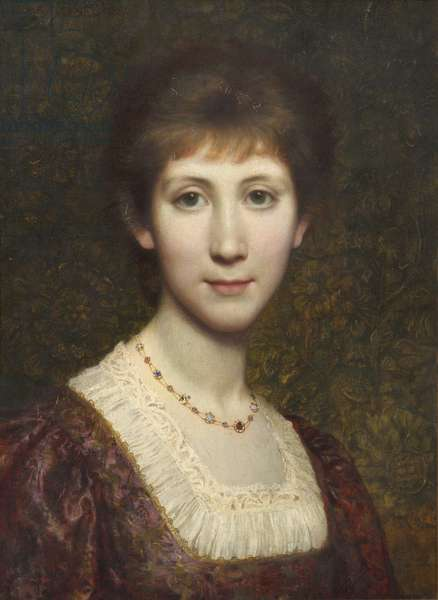 Miss Elsie (Elspeth) Thomson, later Mrs Kenneth Grahame, 1881 (oil on canvas)